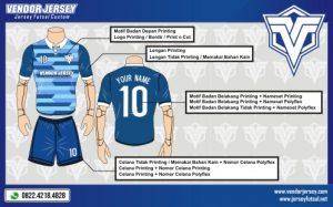 Desain Seragam Futsal Kerah